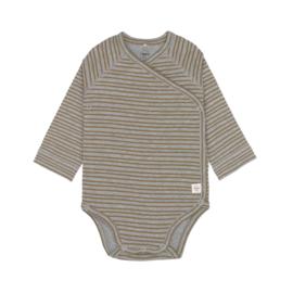 Long Sleeve Body Striped Grey Mélange