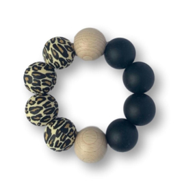 Basic Bijtring Leopard/Zwart