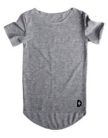 Basic Long Shirt Grijs