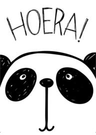 Hoera Panda Monochroom