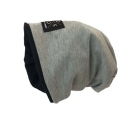 Reversible Beanie Black-Gray