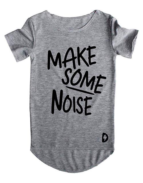 Make Some Noise Grijs Long Shirt