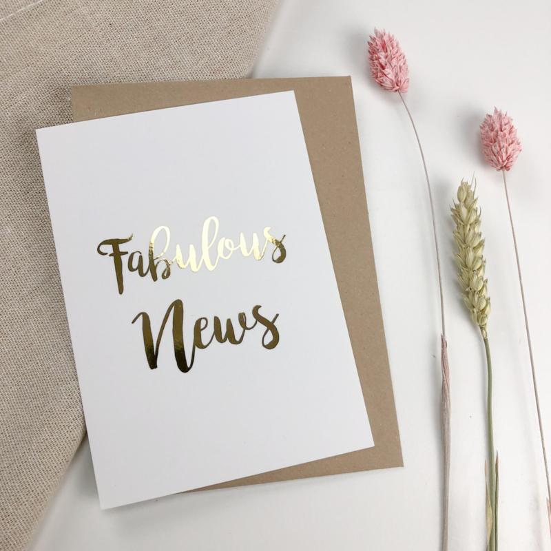 Wenskaart - Fabulous News I Mus en Bloem