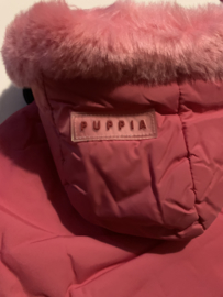 roze winter hondenjas Puppia