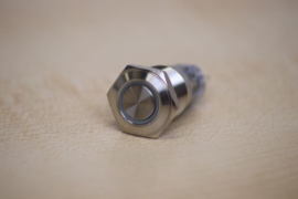 SS pushbutton with white LED ring