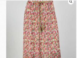 Lange rok, roze/rood, one size . groen/beige