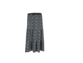 Lange rok zwart/ wit , C & S design