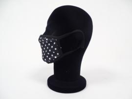 Mondmasker Zwart Wit