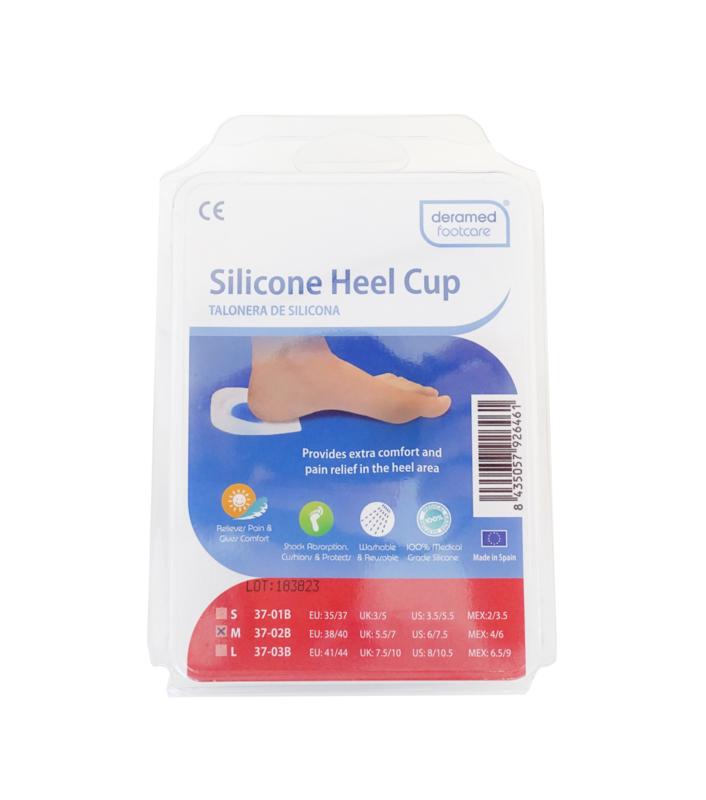 Deramed hiel cup silicone maat S, 2 stuks