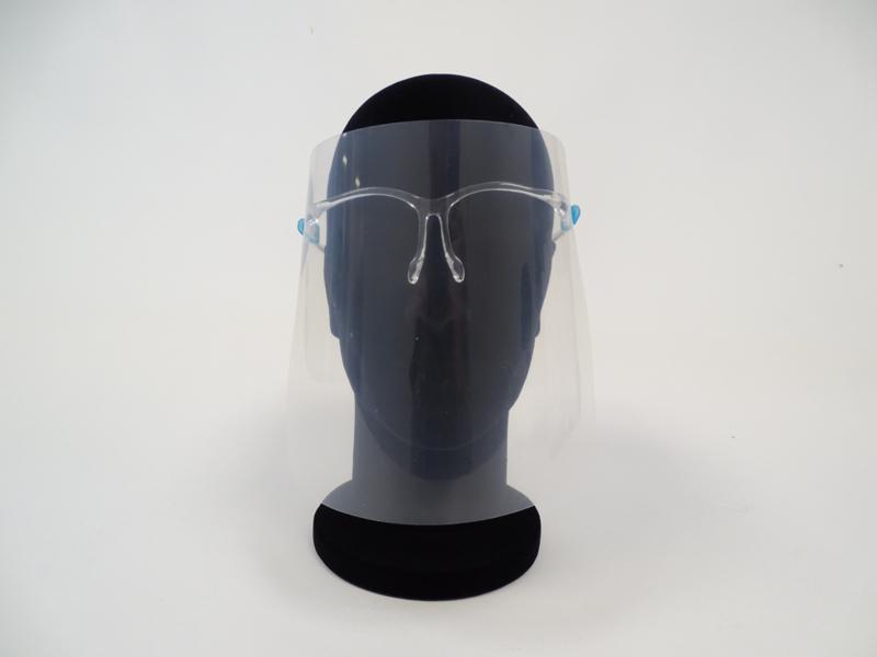 gezichtsscherm brilconstructie