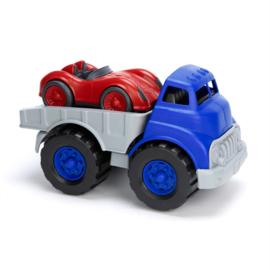 Greentoys oplegger met race auto
