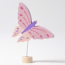 Grimm's steker roze vlinder