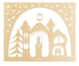 De Noest staande decoratie Koning winter