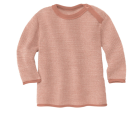 Disana merino wollen trui roze-naturel