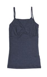 Joha wol/zijde dames hemd blauw