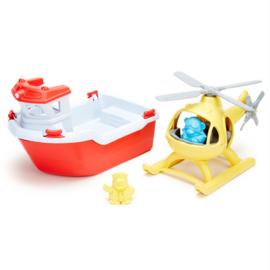 Greentoys reddingsboot met helicopter