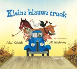 Kleine blauwe truck (karton)