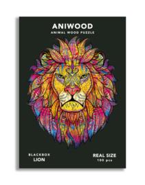 Aniwood houten puzzel leeuw small