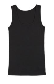 Joha wol/zijde dames hemd zwart