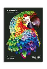 Aniwood houten puzzel papegaai medium