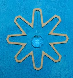 De Noest kristalhanger sneeuwkristal