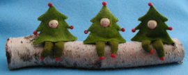 Drie kerstboomboefjes