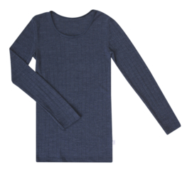 Joha wol/zijde dames shirt blauw