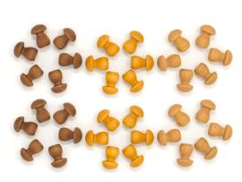 Grapat mandala kleine paddenstoelen