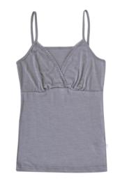 Joha wol/zijde dames hemd grijs