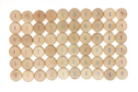 Grapat munten met cijfers