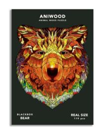Aniwood houten puzzel beer medium