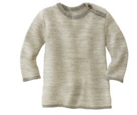Disana merino wollen trui naturel-grijs