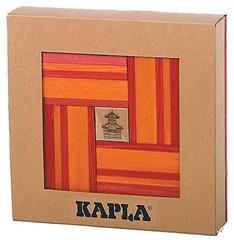 Kapla 40 Rood/Oranje met Boek