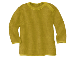 Disana merino wollen trui curry-gold