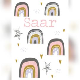 Geboorteposter 'Saar' A5/A4