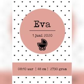 Geboorteposter 'Eva' A5/A4