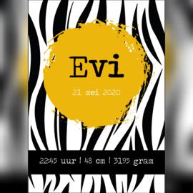 Geboorteposter 'Evi' A5/A4