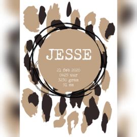 Geboorteposter 'Jesse'