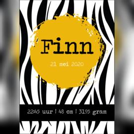 Geboorteposter 'Finn' A5/A4