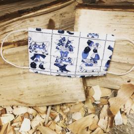Mondkapje Delftsblauw