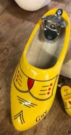 Doppenvanger klomp - Geel bies + naam