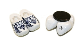 Magneetklompjes 4 cm - Wit Delftsblauw
