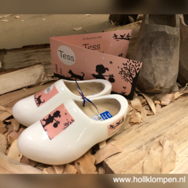 Geboorte Klompen 16 cm - wit