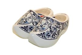 Houten Klompen - Wit Delftsblauw