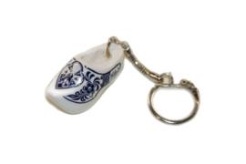 Sleutelhanger + 1 klompje 4 cm - Wit Delftsblauw