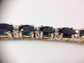 Collier met saffier en diamant