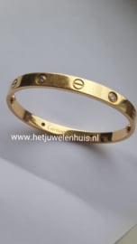 Cartier Love armband 4 diamanten