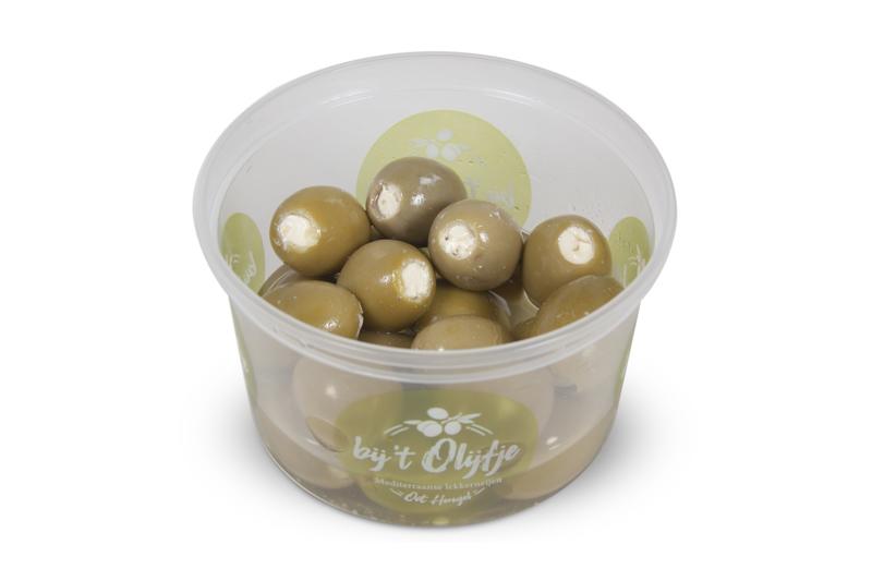 Gevulde roomkaas olijven