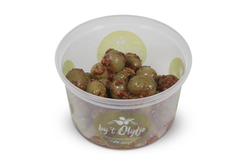 Bruschetta olijven groen