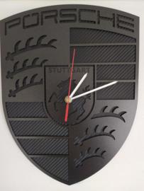 Porsche clock - black